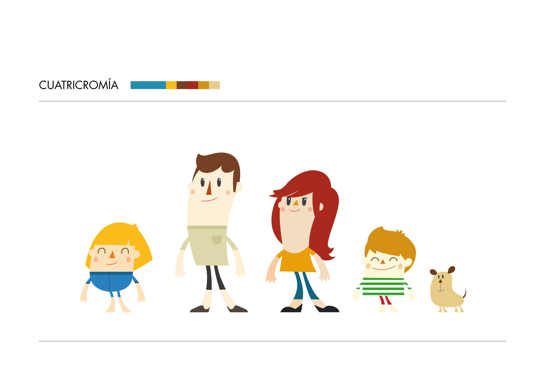 diseno personajes familia