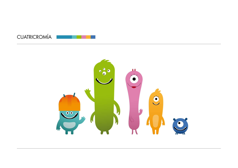 Diseño de personajes familia mostruos