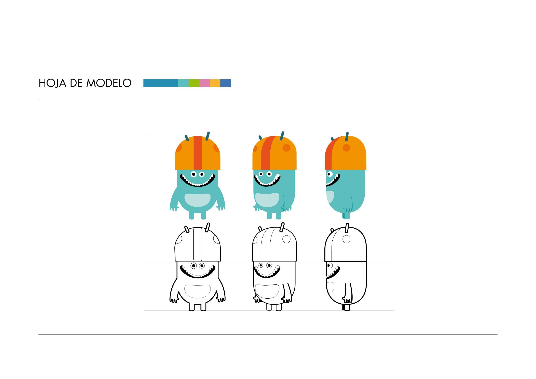 Diseño de personajes hoja de modelo