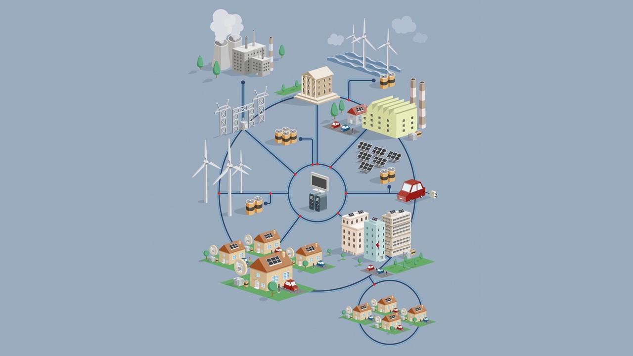 infografia vectorial smart grid