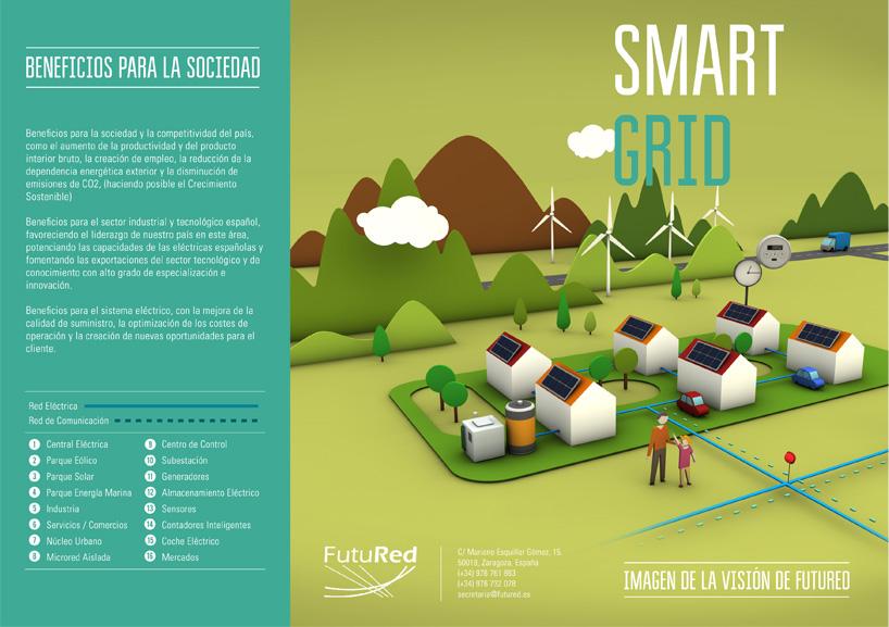 ilustracion 3D smart grid diptico