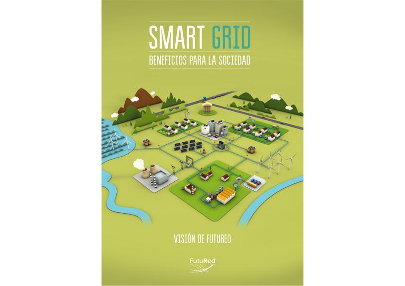 ilustracion 3D smart grid