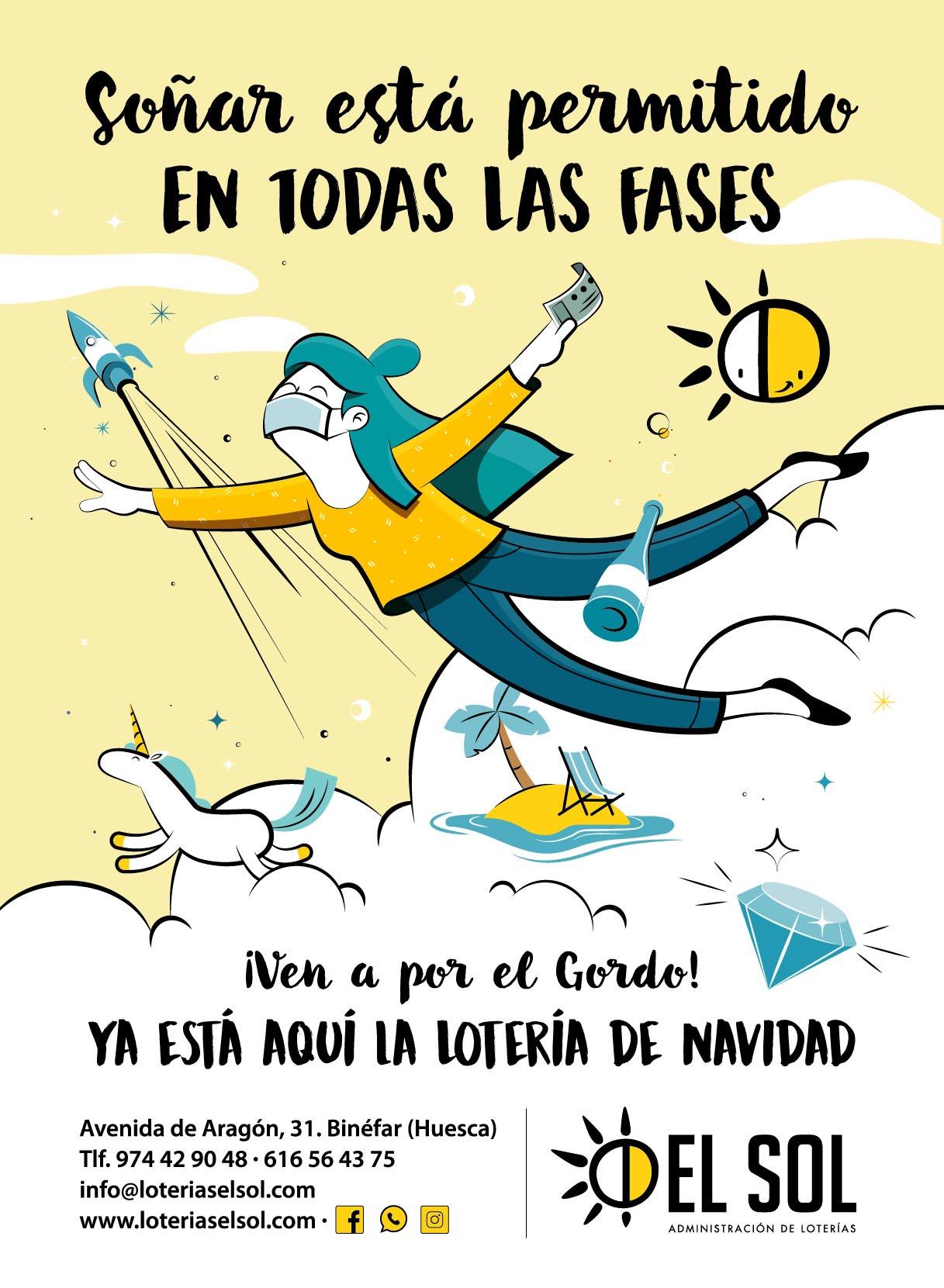ilustracion publicitaria loteria navidad