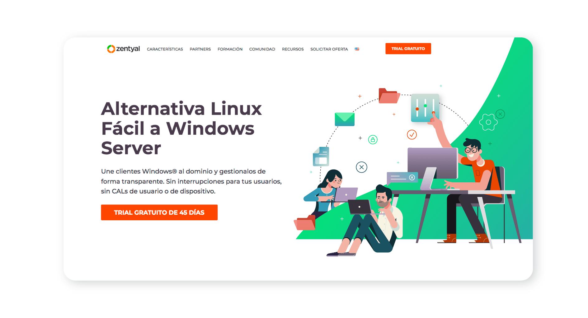 Zentyal Ilustracion Web