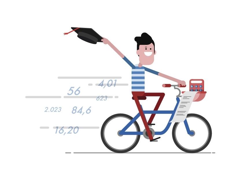 ilustracion finanzas basicas escolares universitarios